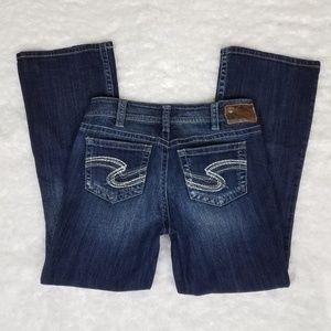 Silver Suki Jeans Medium Wash Faded 30 x 30 EUC